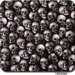 Powder Buy the Pound: Hydrographics Film Green Eyed Skulls